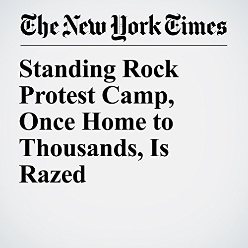Standing Rock Protest Camp, Once Home to Thousands, Is Razed copertina