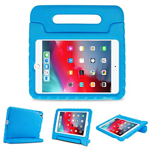 ProCase Kids Case for iPad Mini 5 / Mini 4, Ultra Lightweight Shockproof Kids Friendly Protective Cover Rugged Case with Handle Kickstand –Blue