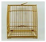 Liudan Jaula de Pájaros Jaula de pájaros de bambú de Estilo Chino Tradicional Jaula de pájaros clásicos, pájaros pequeños Parakeets, pinzones, cacatudes Jaula