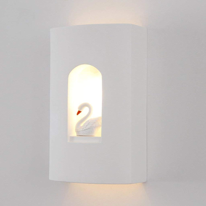 JU Kreative Kreative Kreative Swan Wandleuchte Nordic Kreative Kunst Lichter Wohnzimmer Korridor Gang Bett Bett Schlafzimmer Studie Lampen B07HL9KT8Q | Förderung  2d844d