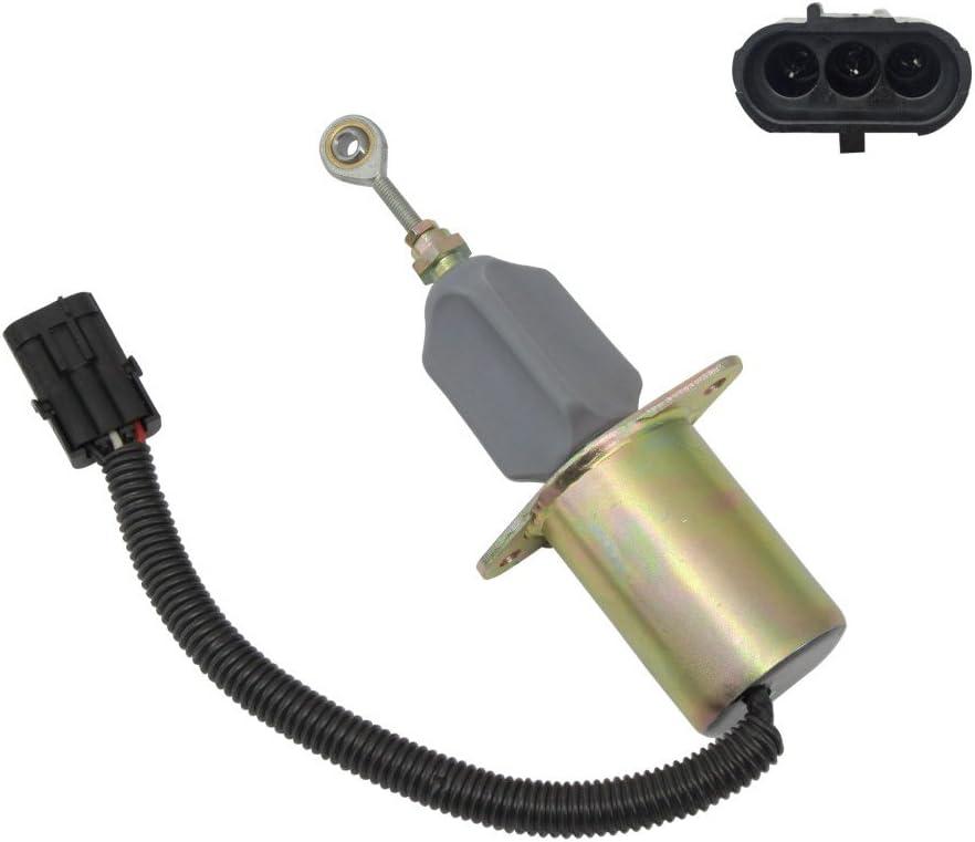 New Fuel Shut Off Solenoid fits Applications Cummins Spring new work with 12 Vol Regular dealer