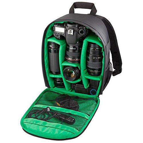 Borsa a tracolla Vovotrade Sacchetto della Macchina Fotografica DSLR Cassa Impermeabile per Canon Nikon Sony Zaino da viaggio smorzamento impermeabile esterno multifunzionale (taglia unica, Verde A)
