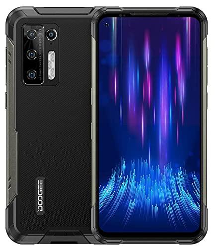 DOOGEE S97 PRO Smartphone Ohne Vertrag mit Laser-Entfernungsmesser, Helio G95 8GB+128GB,Android 11 IP68 Wasserdicht Robustes Handy 8500mAh Akku, 48MP Quad Kamera, Drahtloses Laden GPS NFC Schwarz