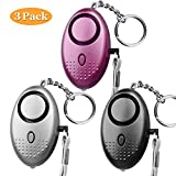 Personal Alarm, 140db SLB Emergency Self-Defense Security Alarm Keychain with Mini LED Light for Women Girls Elderly Safety, CE Certified (3 Pack) (Mixed Color)