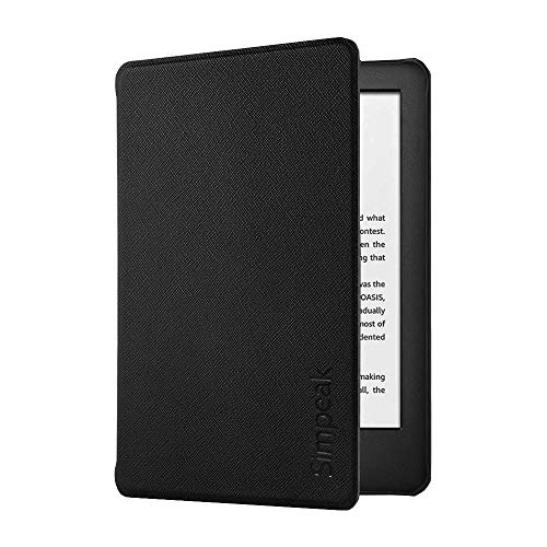 Simpeak Funda Compatible para Kindle 2019 [5 años de garantía], Funda Compatible con 10th generacion Kindle 2019 con el Soporte Carcasa Compatible con Kindle - Negro