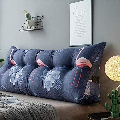 Cojín de asiento para silla, con estampado de respaldo grande, cómodo, cama, sofá, cama, silla de oficina, cojín triangular, cabecero tapizado, extraíble, cojín de lectura, cojín para oficina