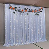 <span class='highlight'><span class='highlight'>Atongham</span></span> Sky Blue Bridal Shower Wedding Ceremony Backdrops Tulle Chiffon Backdrop Curtains Newborn Baby Shower Backdrop Photo Booth Background Photography
