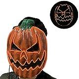 KimcHisxXv Kimilike Halloween Maske, Halloween Led Maske Leuchtende KüRbis Gesichtsmaske FüR Halloween Karneval Karneval Party KostüM Cosplay Dekoration