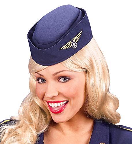 Widmann 3335H Hut Stewardess, blau, One size