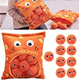 A Bag of Cheesy Puffs Toy Stuffed Soft Snack Pillow Plush Puff Toy,Cheese Puff Pillow with Cheese Puffs in It,Cheese Puff Stuffed Toy Game Pillow Cushion Gift for Girlfriend (9 Balls)