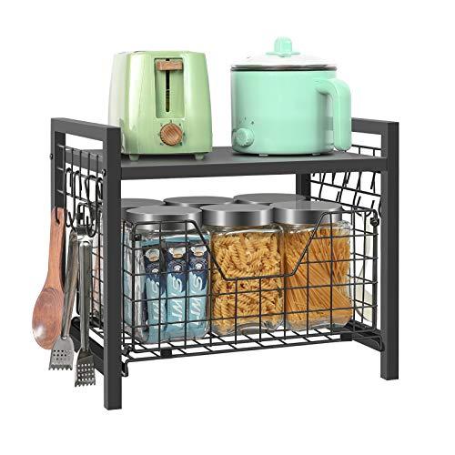 Kitchen Cabinet Organizer Basket Spice Rackorganizer Pots Pans Countertop Storage With Sliding...