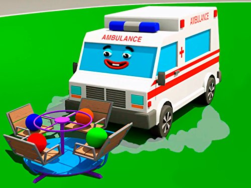 Learn colors together with White Ambulance and Fire Truck