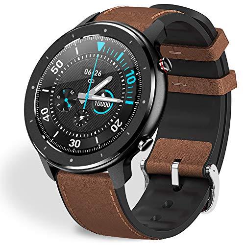 Fullmosa Smartwatch Mujer Hombre Reloj Inteligente, FW-12 Fitness Tracker con Frecuencia Cardíaca Monitor SoP2, Pulsera Inteligente Monitores de Calorías/Sueño/Podómetro, Impermeable Relojes Deportes