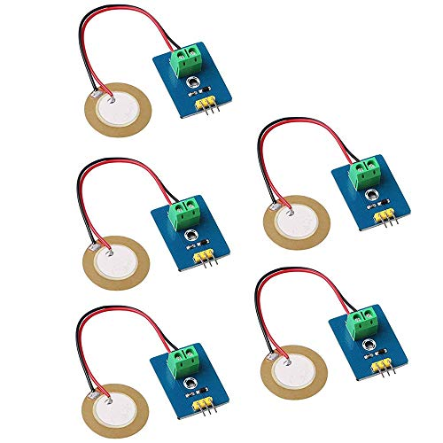 DollaTek 5er Analog Ceramic Piezo Vibration Sensor Modul 3.3V / 5V für Arduino DIY Kit