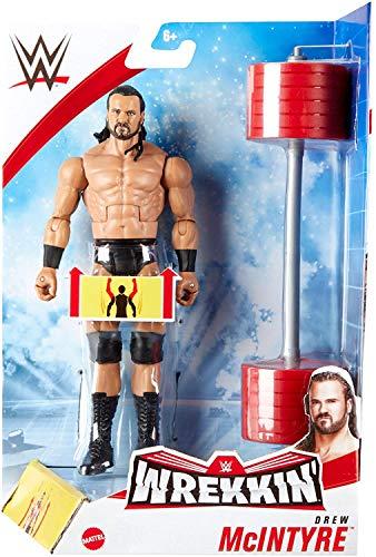 WWE WREKKIN - DREWM McINTYRE- Actionfigur komplett mit Wrackzubehör, ca. 15 cm