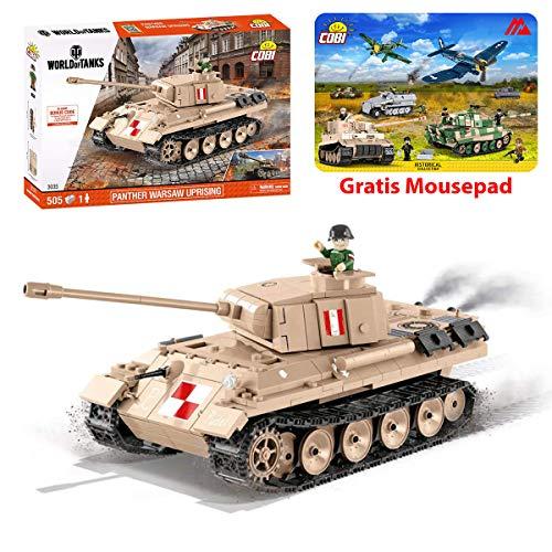 Konstruktionsspielzeug kleine Armee Panzer. V Panther World of Tanks Bausteine + Mauspad von Juminox Gratis
