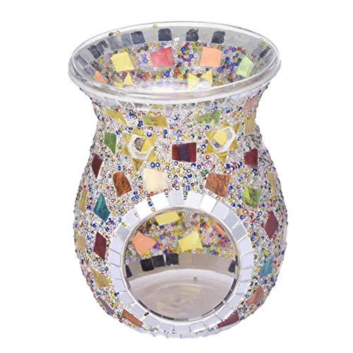 Huaxingda Lámpara De Mesa Mosaico Turco, Lámparas De Mesa Vintage, Art Deco, Hechas A Mano, Lámpara De Cristal Romántica para Cama, con Mosaicos