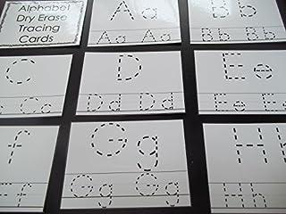 26 laminated Preschool Alphabet 4x5 Tracing Cards.