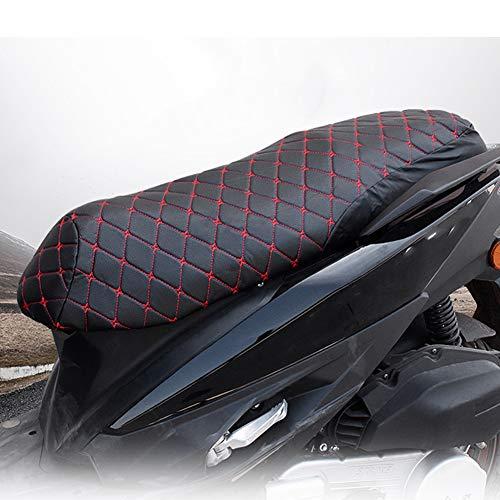 Fuerte Eléctrico Motocicleta Asiento Cubrir, Cuero Material Cuero 66x34cm 64x32cm por Todas Estaciones