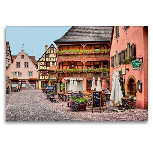 Premium Textil-Leinwand 120 x 80 cm Quer-Format An der Porte de France   Wandbild, HD-Bild auf Keilrahmen, Fertigbild auf hochwertigem Vlies, Leinwanddruck von Thomas Bartruff