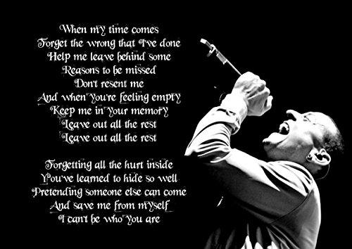 ula bear Leave out All The Rest Linkin Park Chester Bennington, Póster A4 Laminado, Grande, Roca, Metal, álbum, Cubierta, diseño, música, Banda, Mejor, Foto, Imagen, único, impresión, Licra,