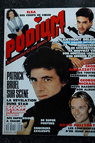 PODIUM HIT 226 1990 10 PATRICK BRUEL ELSA Anthony DELON David HALLYDAY Poster James DEAN