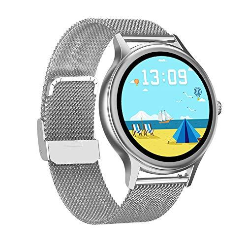 Smartwatch mit Blutsauerstoff und Herzfrequenz Fitness Tracker Uhr, 1,09 Zoll IP67 wasserdicht, Fitnessuhr, Sportuhr, Damenuhr (E)