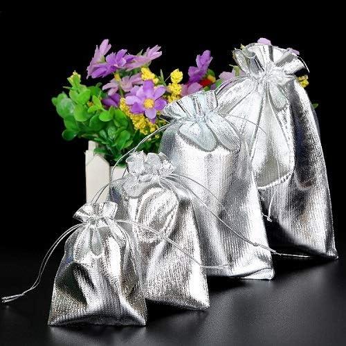 10Pcs Metallic Foil Cloth 7X9 9X12 Bags 1 year warranty Organza 13X18Cm Choice 10X15Cm