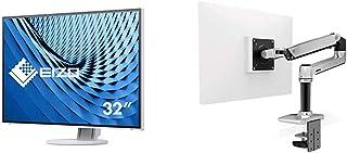 【セット買い】EIZO FlexScan 31.5インチ ディスプレイ モニター フレームレス 4K UHD IPS USBType-C HDMI DisplayPort 5年保証 EV3285-WT & エルゴトロン LX デスクマウント モ...