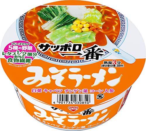 1位:サンヨー食品『サッポロ一番 みそラーメンどんぶり』