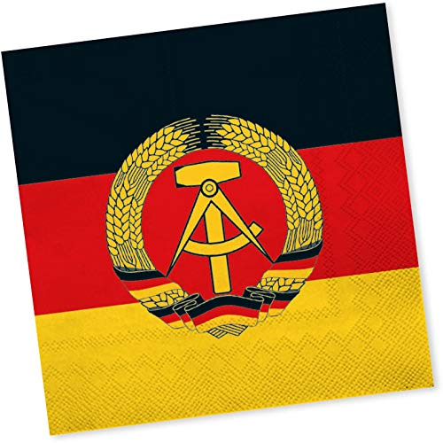 20 Servietten * DDR * für Länder-Party und Mottoparty | Napkins Papierservietten Set