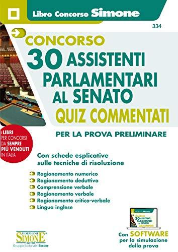 Concorso 30 Assistenti Parlamentari al Senato - Quiz Commentati