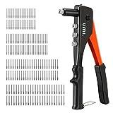 Amazon Brand - Umi Nietzange Set 4-in-1, Blindnietzange mit 200 Nieten in 4 Größen 2,4 mm, 3,2 mm, 4,0 mm, 4,8 mm, für Heimwerker und professionelle Arbeit