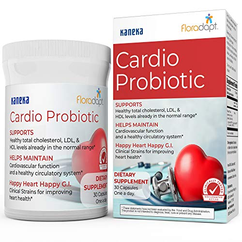 Premium Heart & Cholesterol Support Supplement – Clinically Tested Cardio Probiotic to Support Healthy Cholesterol in Normal Range, Circulation Support & Heart Health – 30 Capsules
