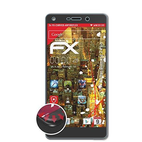 atFolix Schutzfolie kompatibel mit Archos Diamond 2 Plus Folie, entspiegelnde & Flexible FX Bildschirmschutzfolie (3X)