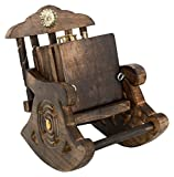 Craftgasmic Beautiful Miniature Rocking Chair Design Wooden Tea Coffee Coaster Set (diwali gift)