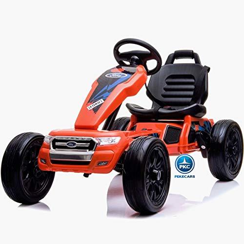 PEKECARS Kart Eléctrico Ford Ranger 12V Naranja
