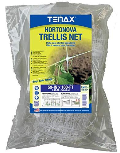 Tenax 2A150061 Hortonova LM Plant Trellis Net 59quot x 100#039 White