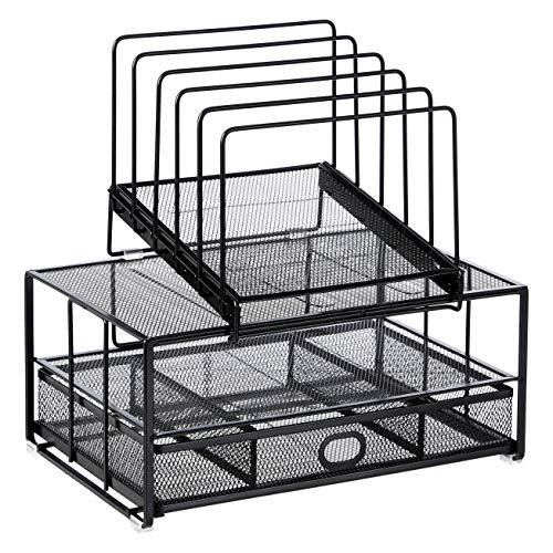 AmazonBasics Single Drawer Mesh Desk File Organizer