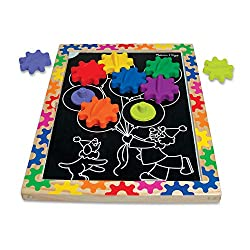 Spin Magnetic Gear Board - Educational Toy With 8 Gears and 5 Double-Sided Designs