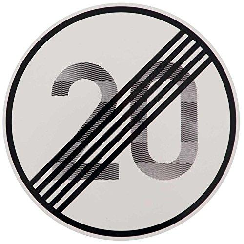 ORIGINAL Verkehrszeichen ENDE 20 km/h Verkehrschild für den 30 Geburtstag Geschenk mit RAL Gütezeichen StVO Geburtstagsschild Straßenschild Verkehrsschilder Schild Schilder Straßenzeichen Straßenschilder Geschwindigkeitsaufhebung Geburtstagsgeschenk