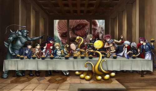RFG REMOVE FROM GAME Last Supper Anime Compatible with Magic The Gathering, Pokemon, Yugioh Playmat 24 x 14 inch