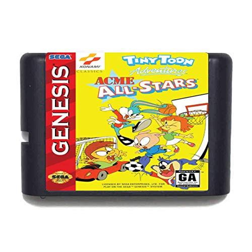 Aditi Tiny Toon Adventures All-Star NTSC-USA for 16-bit Sega MD Game...