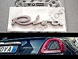 STEMMA SCRITTA FIAT 500 CINQUECENTO RIVA posteriore logo ORIGINALE emblema