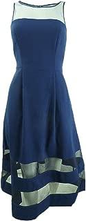 Aidan Mattox Women's Illusion Fit-and-Flare Dress