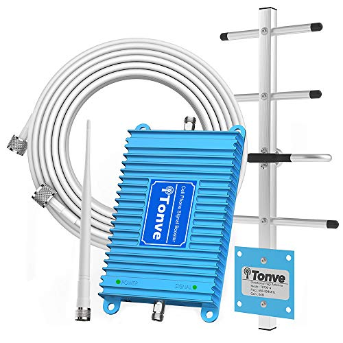 Cell Phone Signal Booster 2G 3G 4G LTE Band 2 and Band 5 850/1900Mhz Cell Signal Booster Cell Phone Repeater Amplifier for Home and Office,Increase Data Speed and No More Dropped Calls
