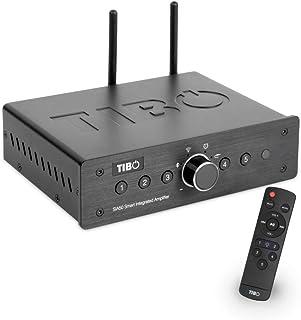 TIBO SIA50 | Smart Integrated Amplifier with WiFi & Bluetooth | 2 x 50W | Internet Radio | Remote Control | Black