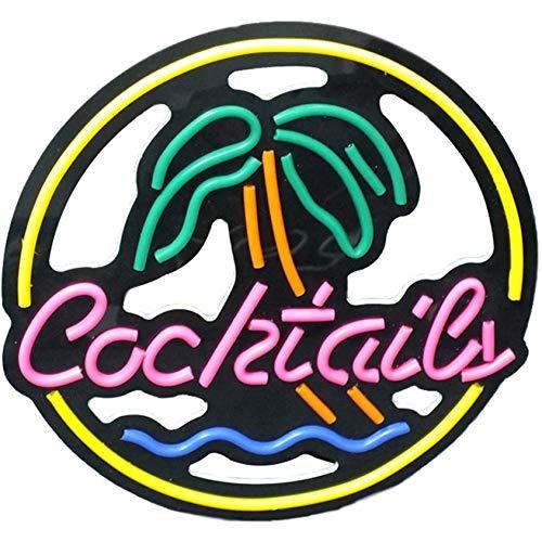 YEHEI Luz De Letrero De Neón LED, Cocktail Dreams Neon Handmade for Bar Shop Logo Pub Store Club