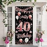 40 Cumpleaños Pancarta,Decoracion 40 años,Decoración de Fiesta de 40 Cumpleaños,Número 40 Pancarta,Regalos 40 Años Mujeres,40 Aniversario para Mujeres 40 Decoración de Fiesta
