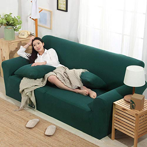 HXTSWGS Fundas de sofá,Asiento de Amor,Funda elástica para sofá, Funda para sofá de salón, Funda para Muebles elástica-Jade Green_90-140cm